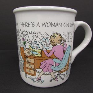 Vintage Mug Mates Relax There's A Woman On The Job